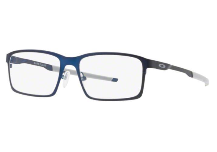 6bcb85c80 Armação Oculos Grau Oakley Base Plane Ox3232 0454 Azul Fosco - R ...