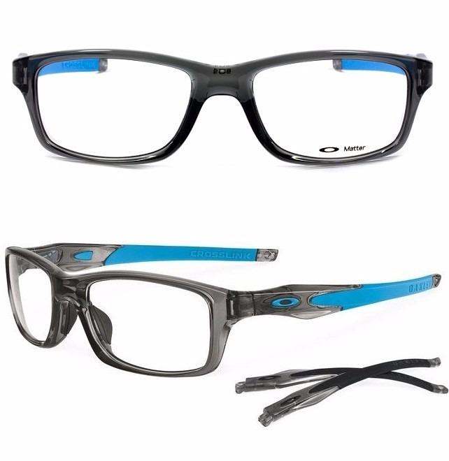 a3d5437d5 Armação Óculos Grau Oakley Crosslink Ox8030 0855 Original - R$ 449 ...