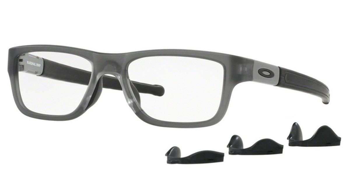 c3ebc37e9db23 armação óculos grau oakley marshal ox8091 satin grey smoke. Carregando zoom.