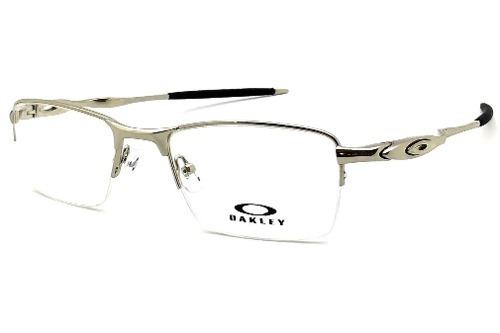 d2055debc413e Armação Oculos Grau Oakley Ox828 Meio Aro Nylon Original - R  123,00 ...