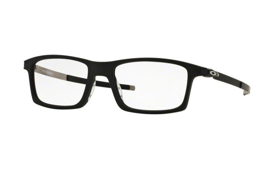 Armação Oculos Grau Oakley Pitchman Satin Black Ox8050 0155 - R  469,00 em  Mercado Livre 2255939e63