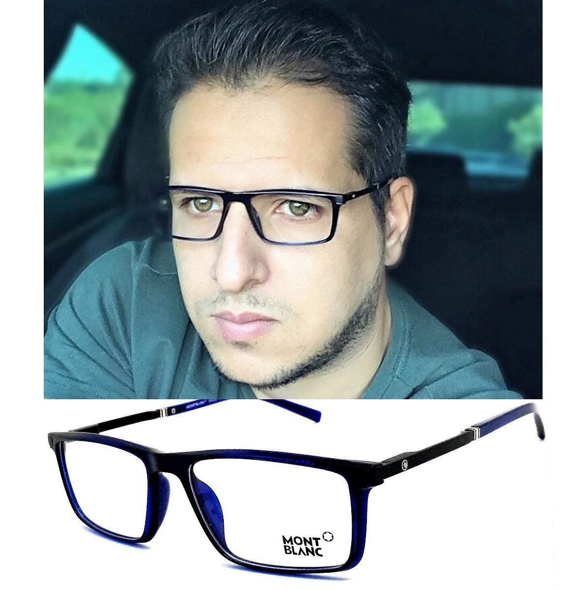 armação óculos grau original mont blanc acetato leve 12x. Carregando zoom. 07c009e853