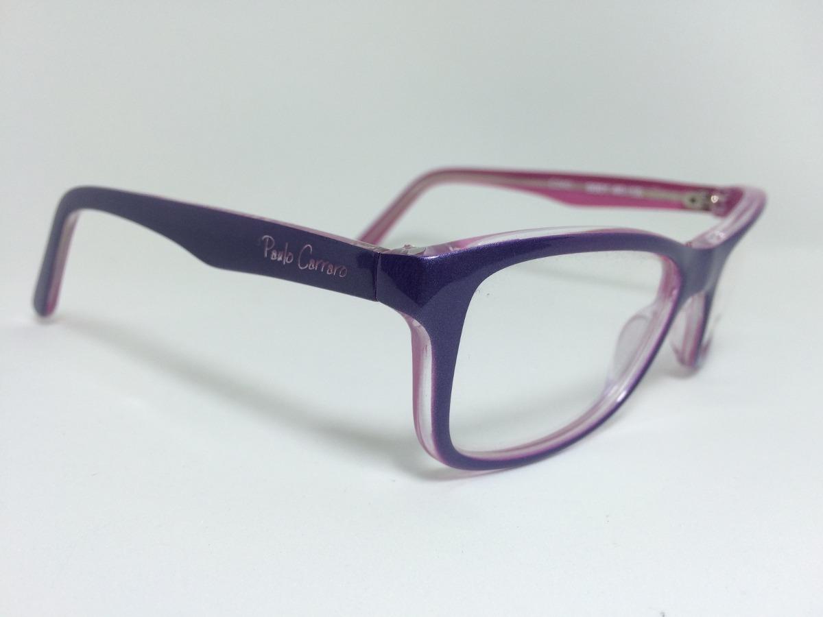 armação óculos grau paulo carraro 9001 lilás rosa infantil. Carregando zoom. 98c099536f
