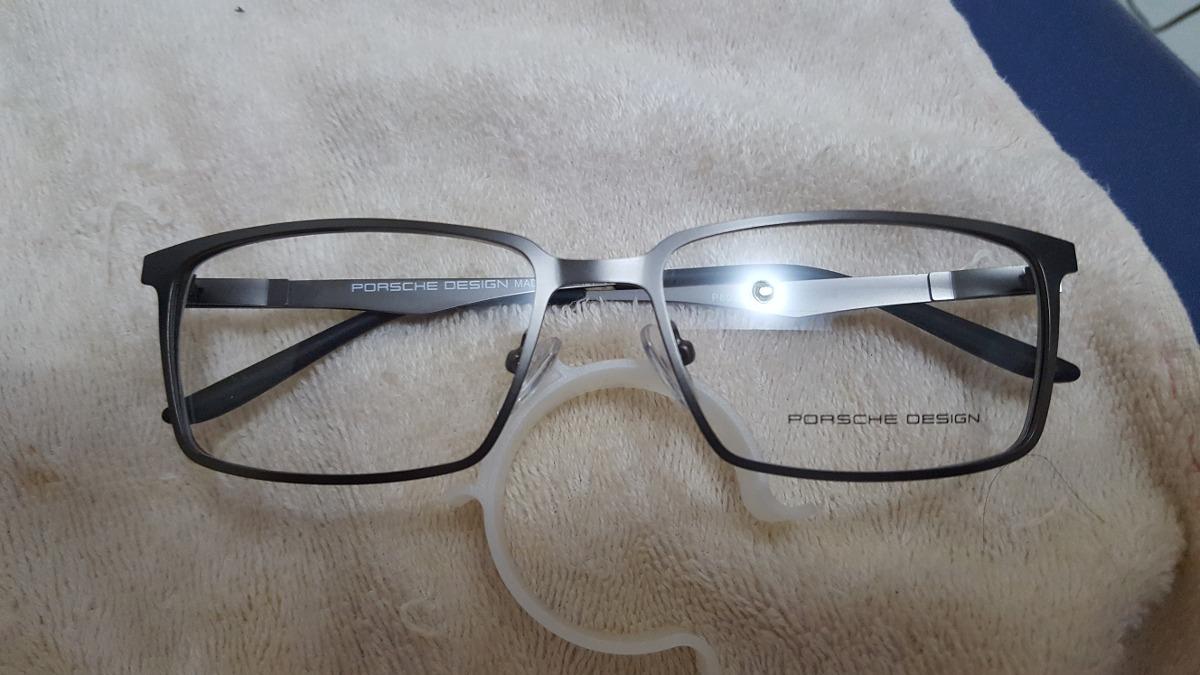 0b709060835f0 armação óculos grau porsche design 8001 lançamento prata. Carregando zoom.