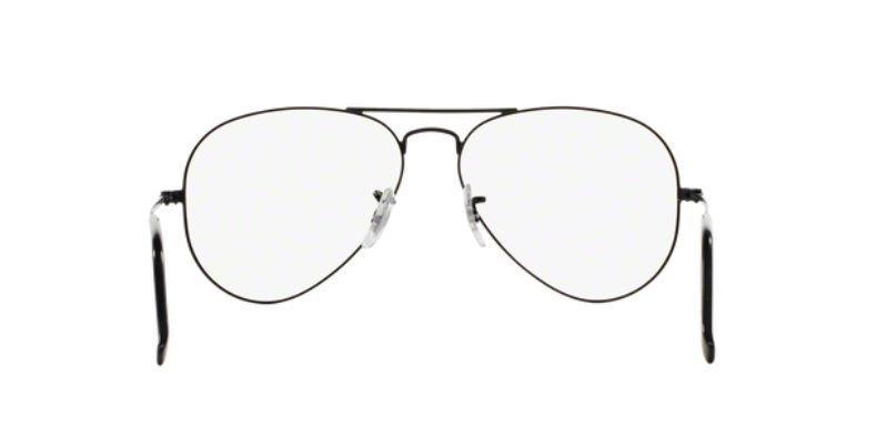 4d5a0e5f16ca6 Armação Oculos Grau Ray Ban Aviador Rb6049 2503 55mm Preto F - R ...