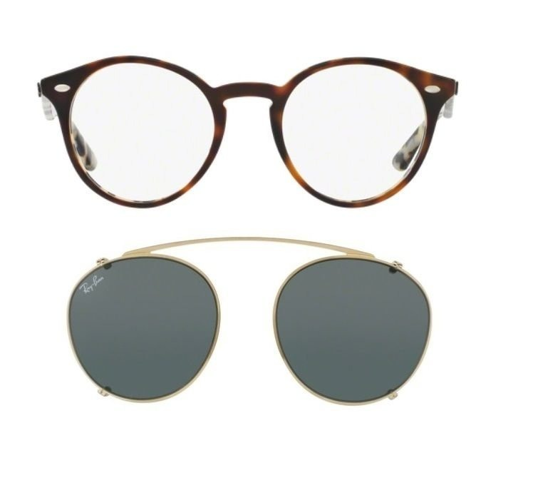 865a8f9f4cfd7 Armação Oculos Grau Ray Ban Rb2180v 5676 + Clip On Verde - R  589