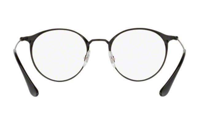 4c0e6b0a48dae Armação Oculos Grau Ray Ban Rb6378 2904 49mm Preto Fosco E B - R ...