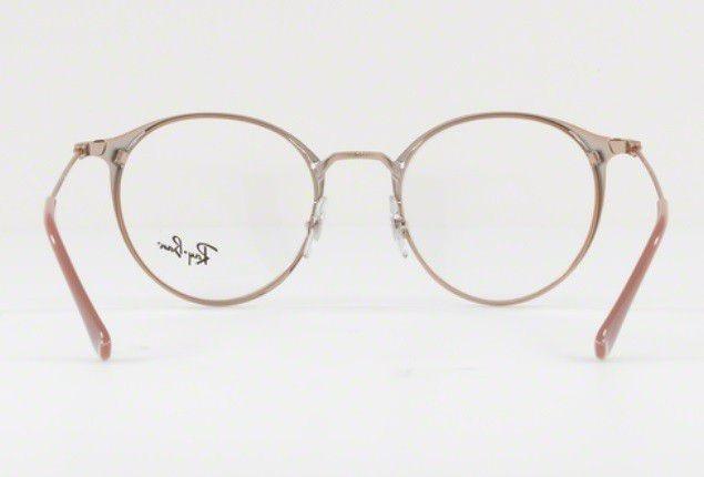 326b72218463e Armação Oculos Grau Ray Ban Rb6378 2973 49mm Marrom Claro - R  369 ...