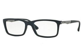 85c9f7640 Armação Oculos Grau Ray Ban Rb7040l 5412 Lte 53mm Azul Fosco