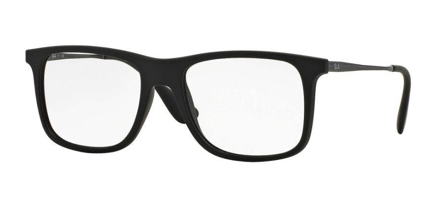 444d8c135c4c7 Armação Oculos Grau Ray Ban Rb7054l 5364 53mm Preto Fosco - R  309 ...