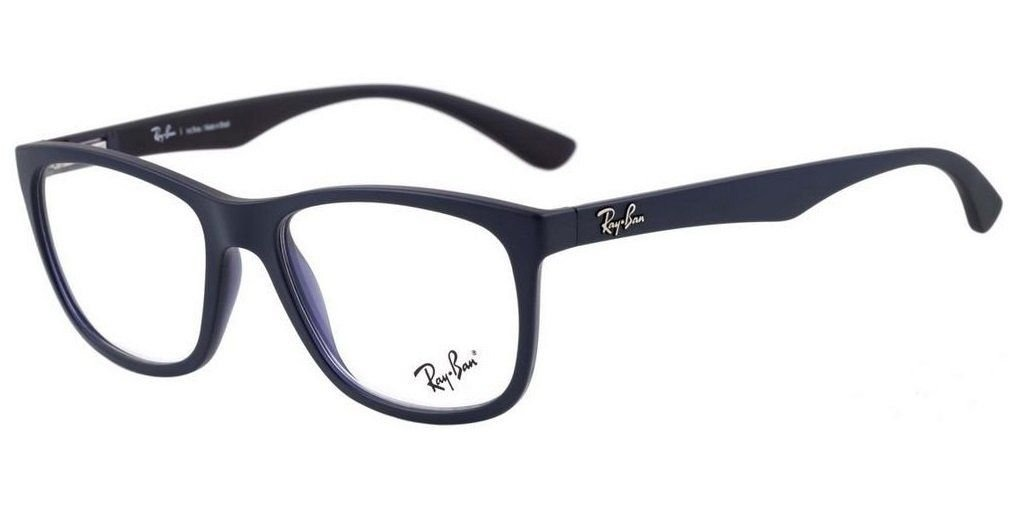 e03be531eedfe armação oculos grau ray ban rb7076l 5616 53mm azul fosco. Carregando zoom.