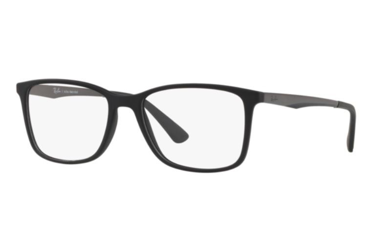 Armação Oculos Grau Ray Ban Rb7133 5826 55mm Preto Fosco - R  279,00 ... 17720be66b