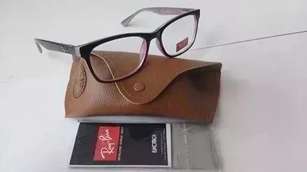24d8588430a9c Armação Oculos Grau Rayban 5115 Lentes De Leitura Cortesia - R  99 ...