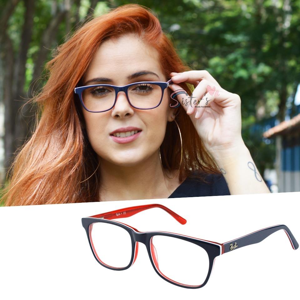 423682749163a armação óculos grau rayban 8123 feminino masculino barato. Carregando zoom.