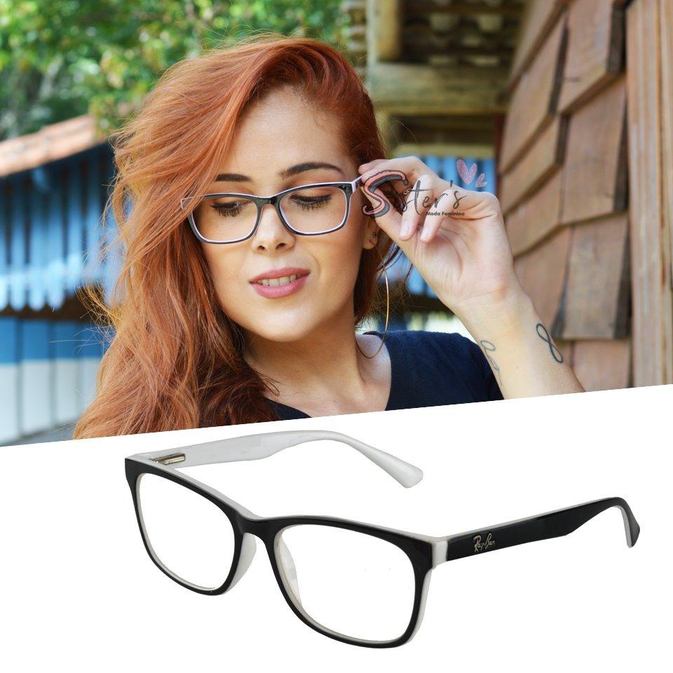 6bd4615ad armação óculos grau rayban acetato quadrado feminino rb5115. Carregando zoom .