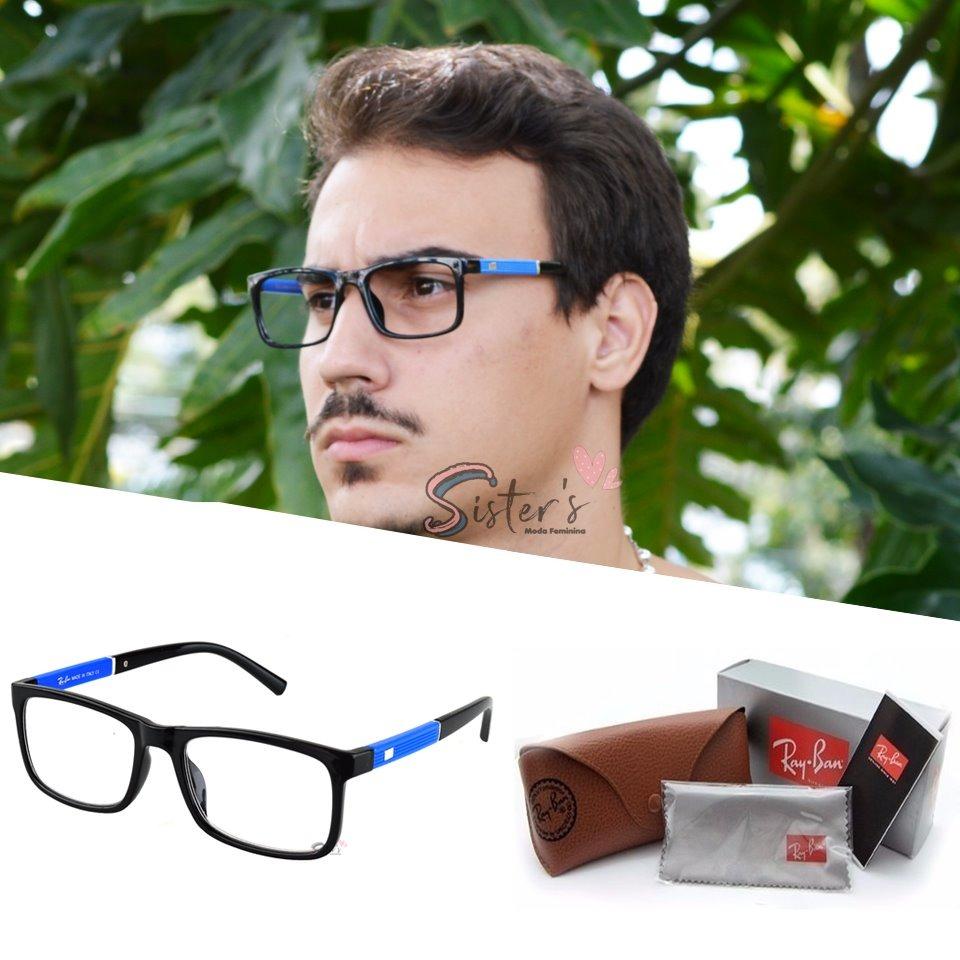 armação óculos grau rayban acetato quadrado masculino 5001. Carregando zoom. 561ed00cda