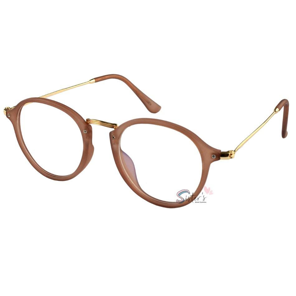armação óculos grau rayban feminino masculino retrô redondo. Carregando zoom . 1155637d99