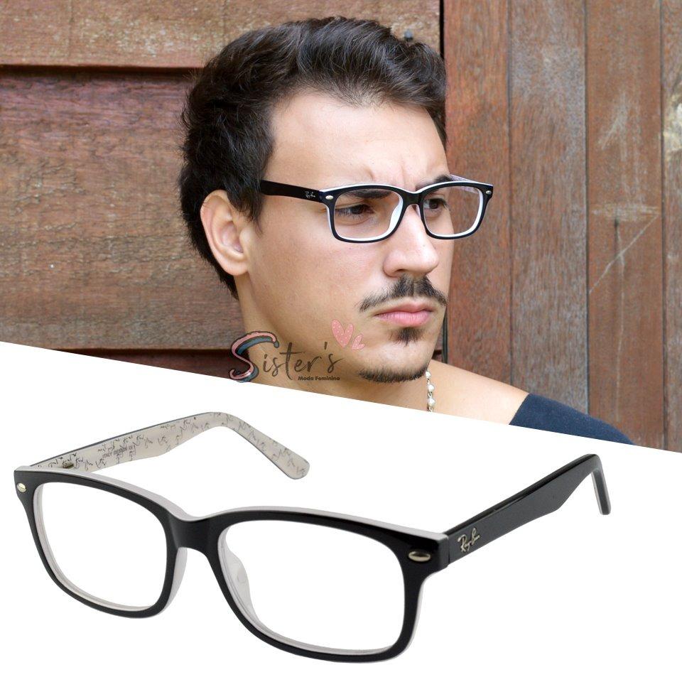 armação óculos grau rayban feminino quadrado original 5228. Carregando zoom. d1e265119b