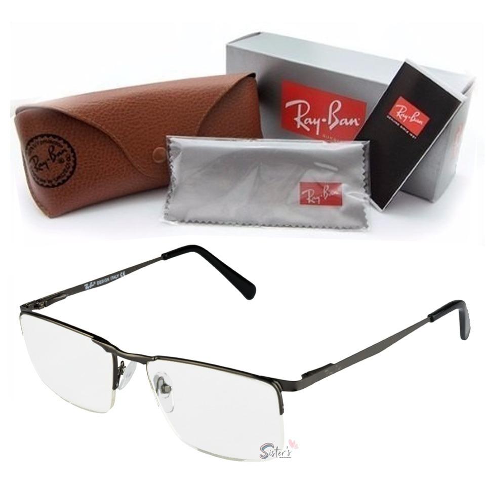 armação óculos grau rayban masculino metal sem aro fio nylon. Carregando  zoom. c65bc03bd2