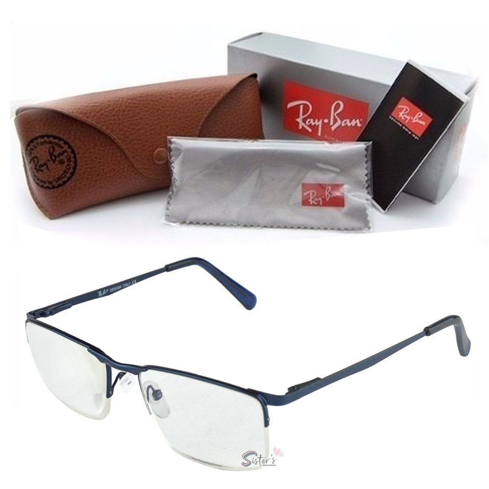 ef1a969669976 armação óculos grau rayban masculino metal sem aro fio nylon. Carregando  zoom.