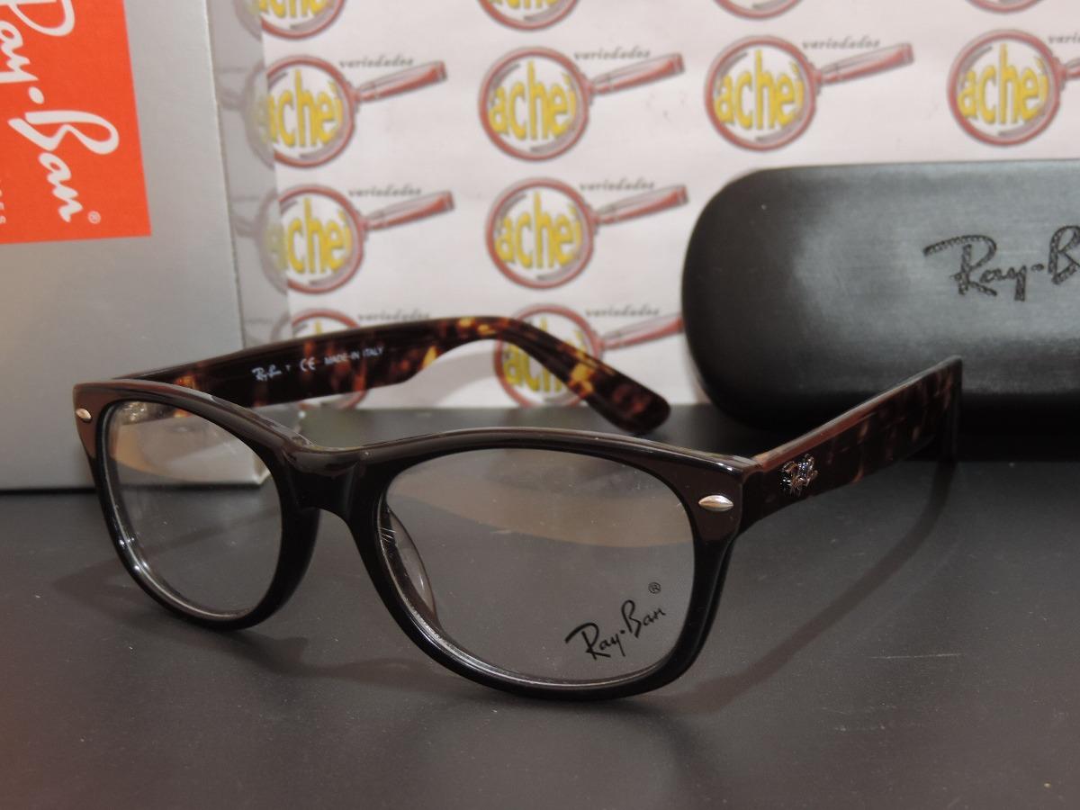 armação oculos grau rb5184 wayfarer marrom tartaruga ray-ban. Carregando  zoom. 1a8de6cc33