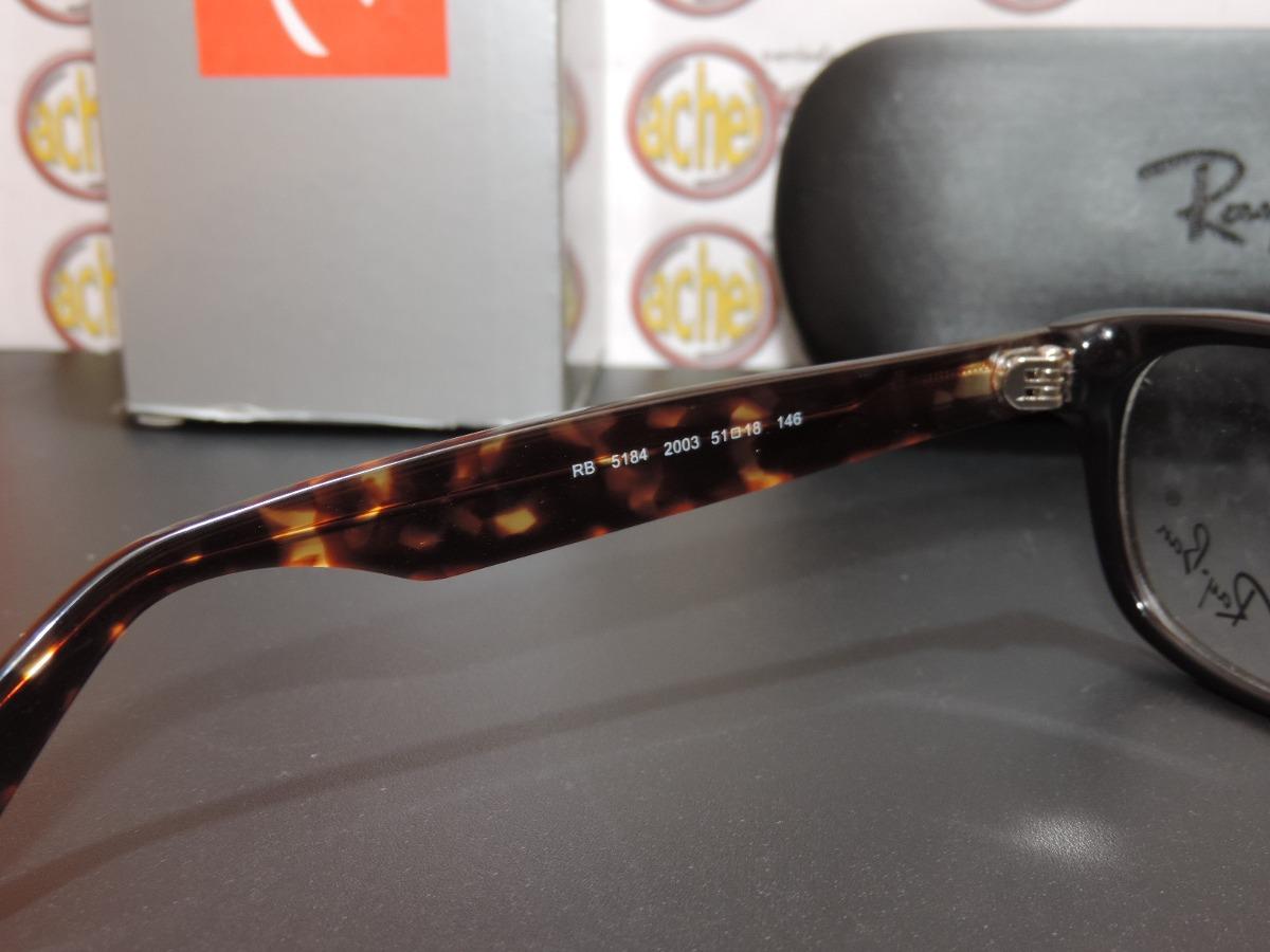 2f6d6137c armação oculos grau rb5184 wayfarer marrom tortoise ray-ban. Carregando zoom .