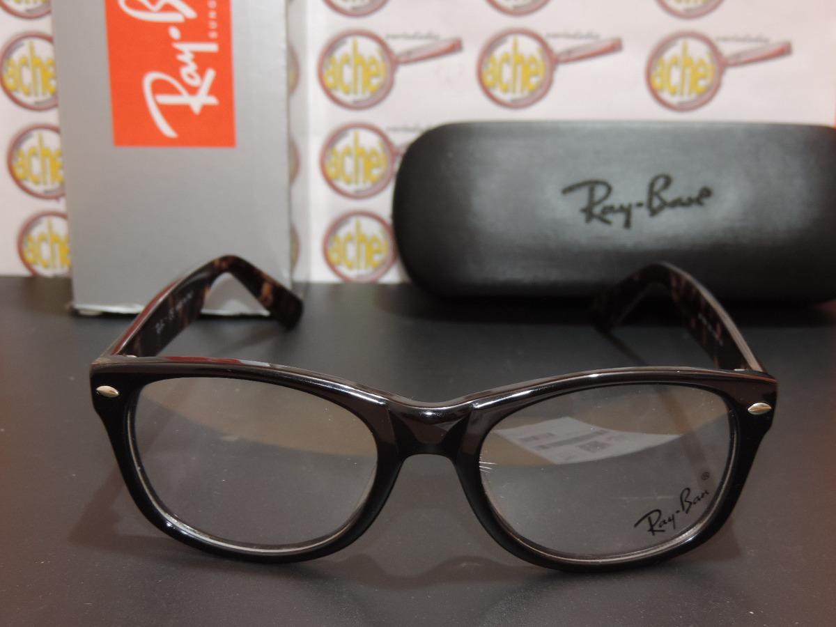 665d45e79a2ca armação oculos grau rb5184 wayfarer marrom tortoise ray-ban. Carregando  zoom.