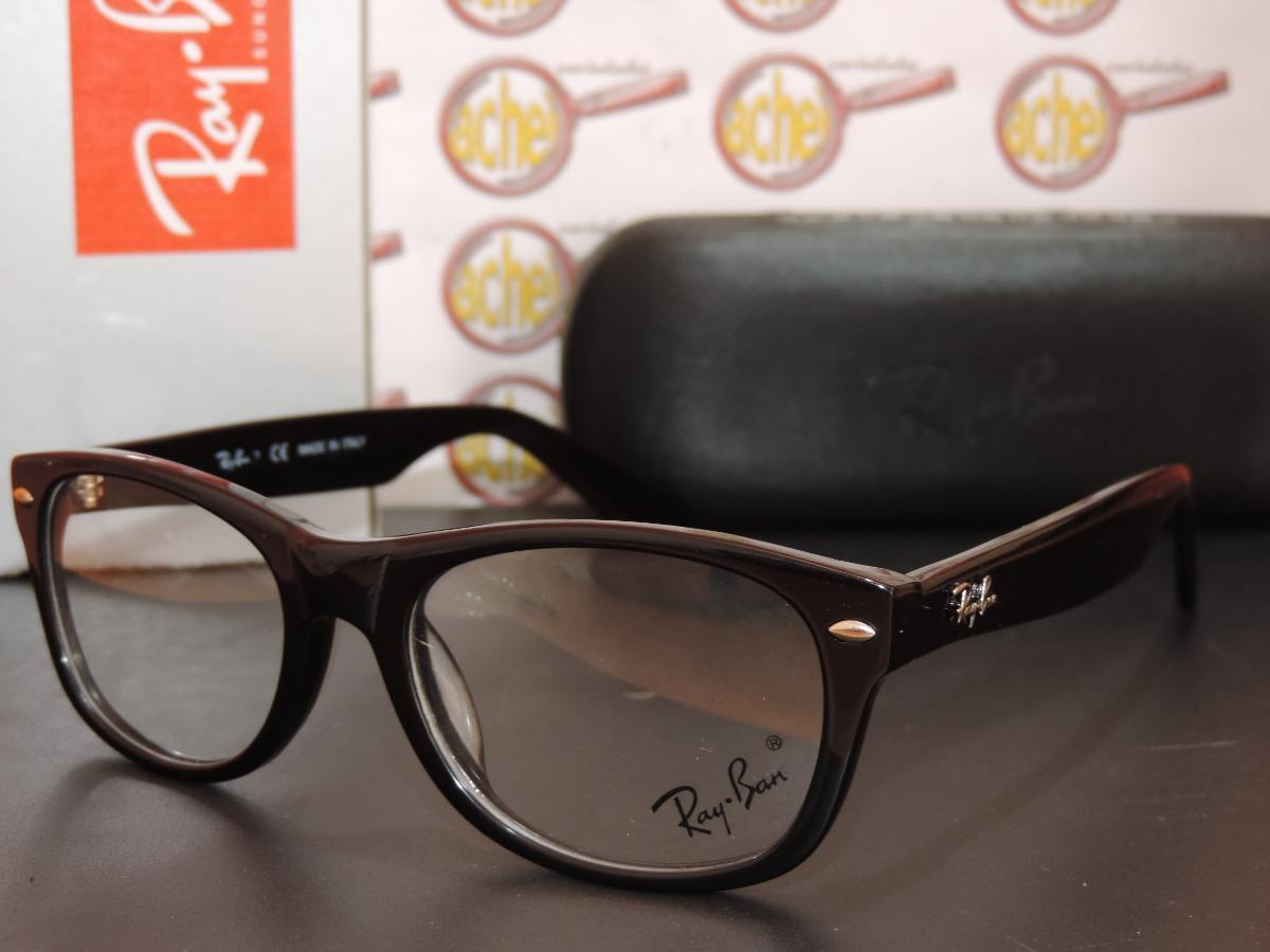 27c8e3bfdbd74 armação oculos grau rb5184 wayfarer preto acetato ray-ban. Carregando zoom.
