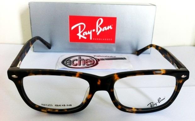 9cd0d8f9f Armação Oculos Grau Rb5228 Wayfarer Tartaruga Marrom Ray Ban - R$ 97 ...