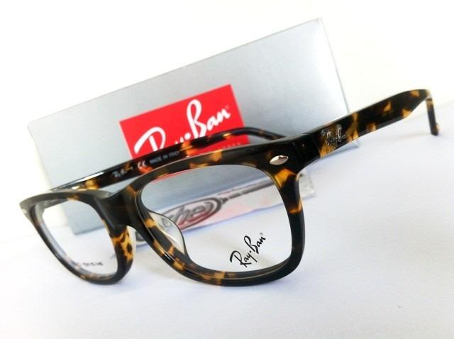 a501aba5001eb Armação Oculos Grau Rb5228 Wayfarer Tartaruga Marrom Ray Ban - R  97 ...
