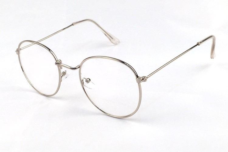 666f254ea Armação Óculos Grau Redonda Aço Confortável Unissex + Estojo - R$ 69 ...