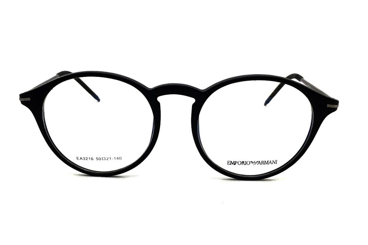 Armação Óculos Grau Redondo Armani Ea3216 Acetato - R  128,00 em ... 1f2756d8ea