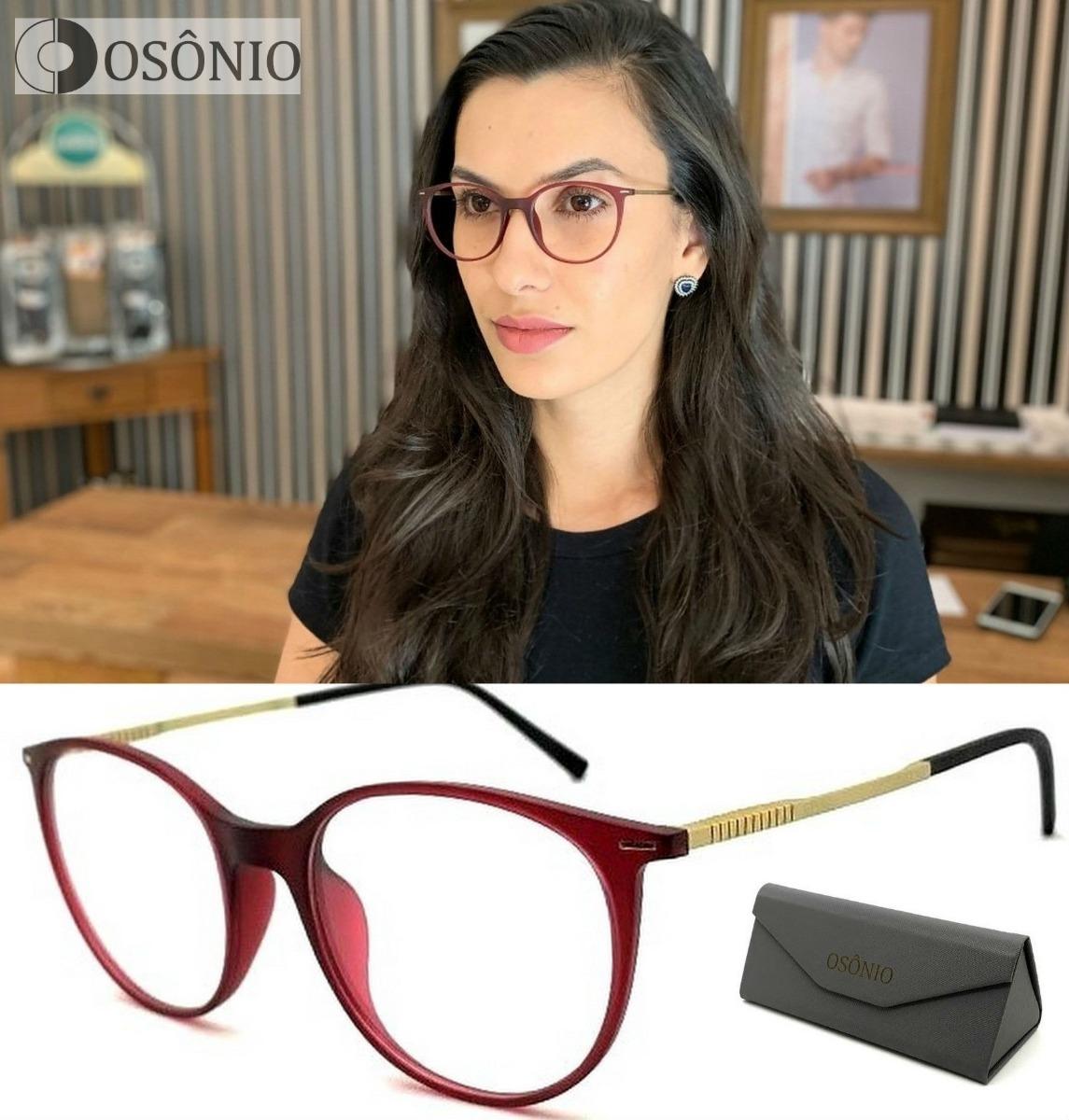 b1d4909d4 Armação Óculos Grau Redondo Osônio Os52 Original Premium - R$ 70,00 ...