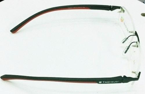 21ae94642f1ba Armação Oculos Grau Sem Aro Th0843 Preto Vermelho Silicone - R  91 ...
