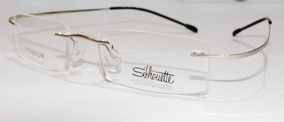 589af2203 armação oculos grau silhouette beta titanium sem aro prata. Carregando zoom.