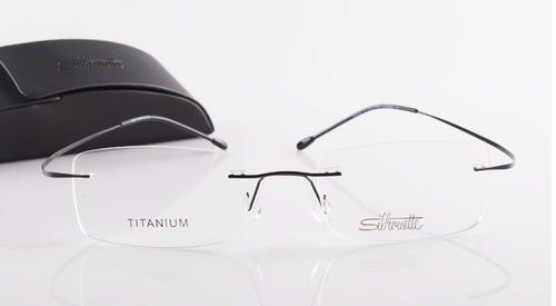 41b0f68601ebe Armação Óculos Grau Silhouette Preto - Titânio Titanium Ray - R  448 ...