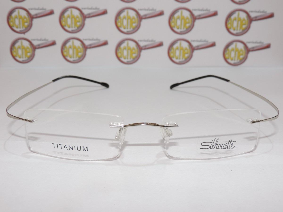b7585d0ba6a87 armação oculos grau silhouette titanium sem aro flexivel. Carregando zoom.