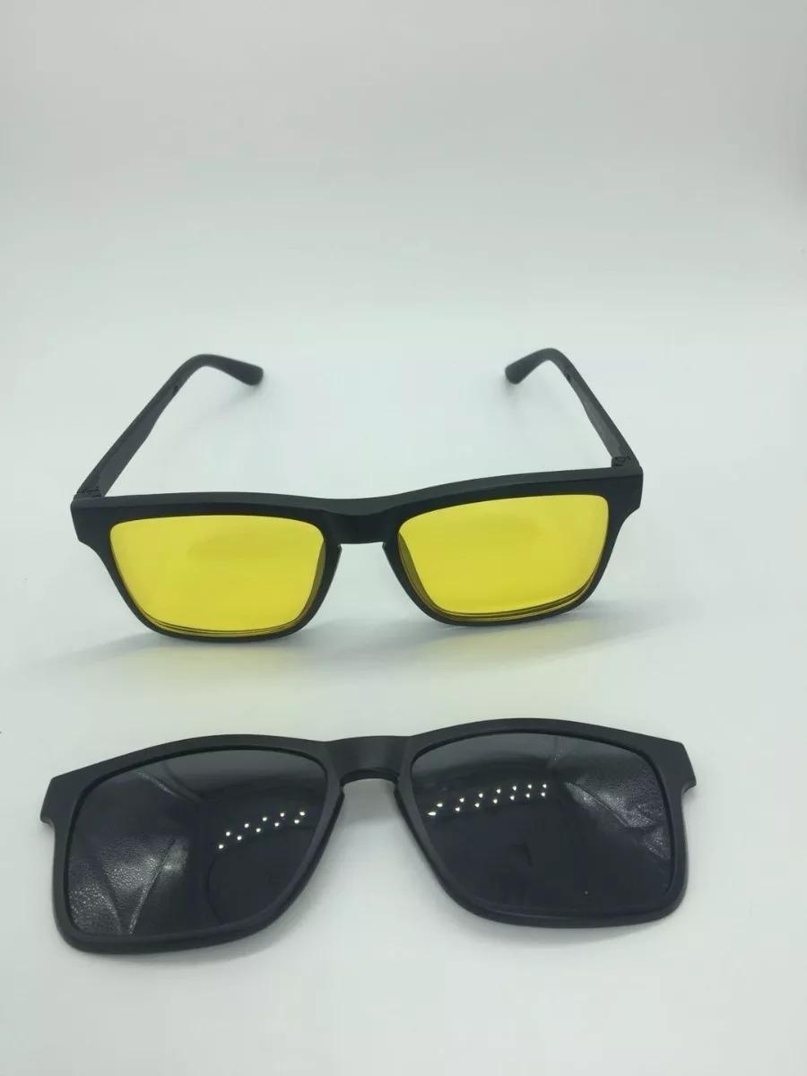 Armação Oculos Grau Sol Masculino 2 Clip On Rb2088 - R  147,00 em ... 59b760f9f1