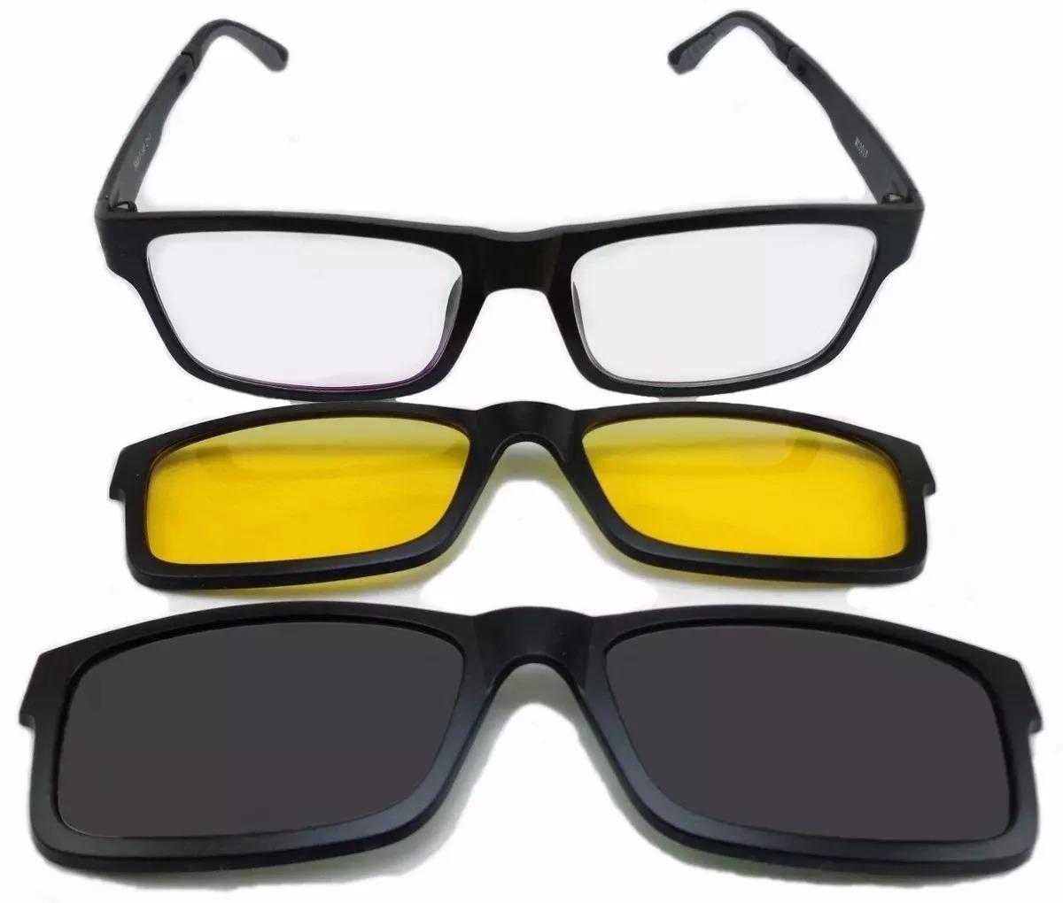 armação oculos grau sol masculino 2 clip on rb2088 original. Carregando  zoom. 6f45a3ca9b