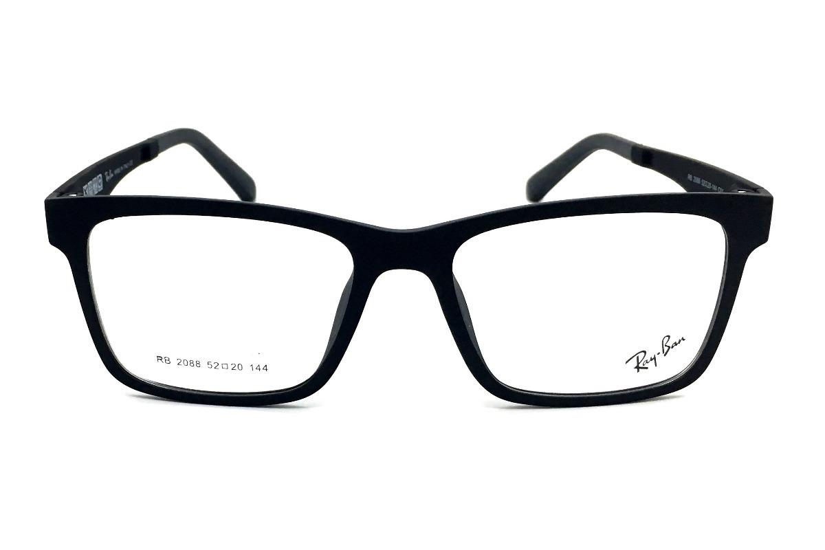 armação oculos grau sol original rb2088 2 clip on masculino. Carregando  zoom. d19f7192d4