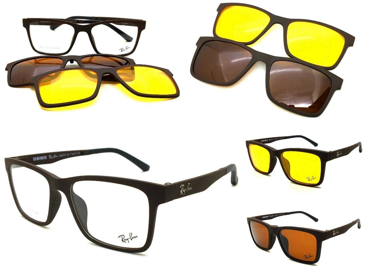 6f4585abb99b8 armação oculos grau sol original rb2088 clip on masculino. Carregando zoom.