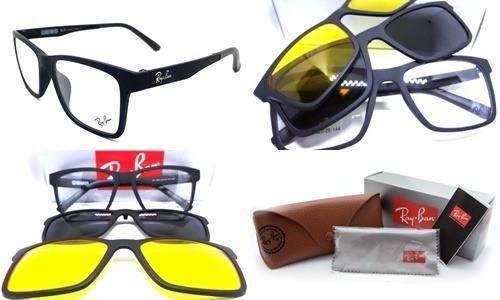 Armação Oculos Grau Sol Ray Ban Rb2089 2 Clip On Promoção - R  115 ... 48a440e502