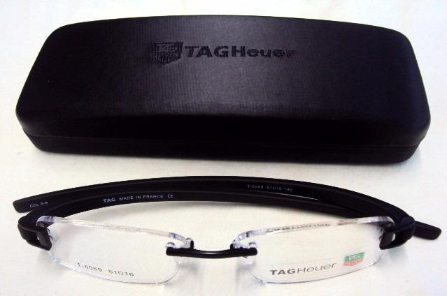 Armação Oculos Grau Tag Heuer Th 5069 Preto - R  79,00 em Mercado Livre 3dec811d96