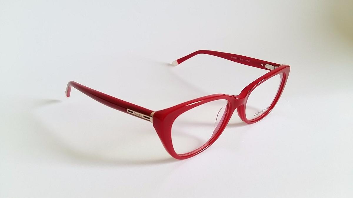 996fa95f33379 Armação Óculos Grau Tiffany Tf1436 Acetato Vermelho R