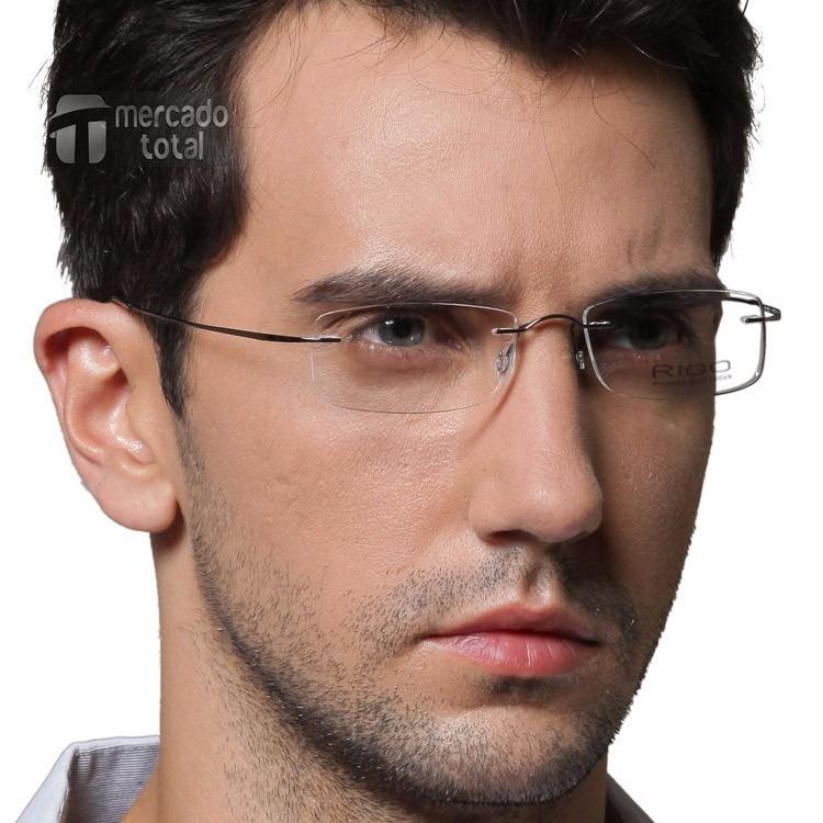 facdaff1087a5 Armação Oculos Grau Titanio Original Masculino Feminino A01 - R  94 ...