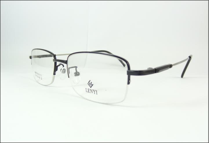 8ee56404b12de Armação Oculos Grau Titanium Preta Multifocal Meio Aro A610 - R  69 ...