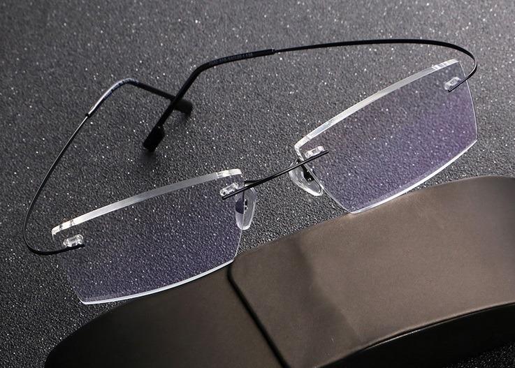 51a1e0de0 Armação Óculos Grau Titânio Sem Aro Flexível Promoção A07 - R$ 44,99 ...