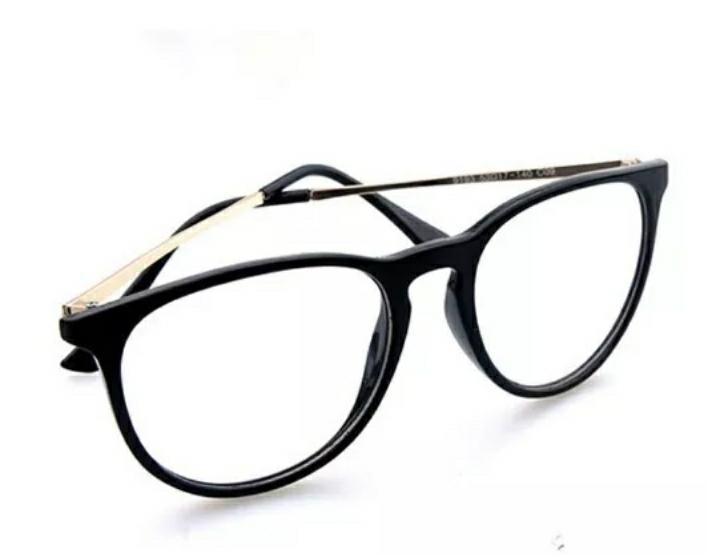 75192395c Armação Óculos Grau Unissex Oval Metal Feminino Preço Baixo - R$ 39,99 em  Mercado Livre
