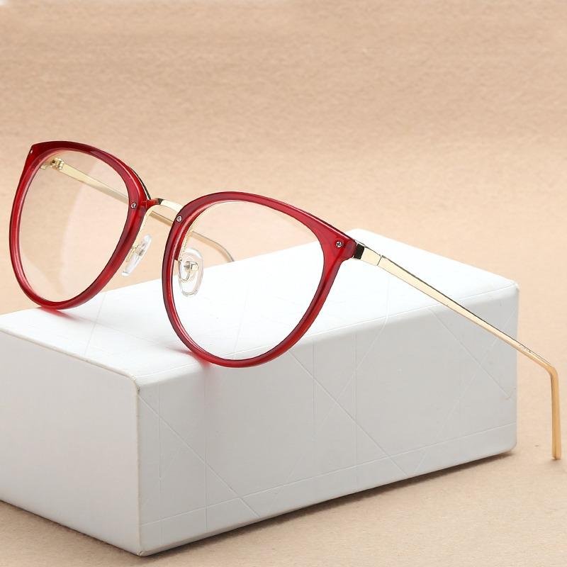 Armação Oculos Grau Vintage Gatinho Metal Dourado - R  56,00 em ... 5a489e0a2f