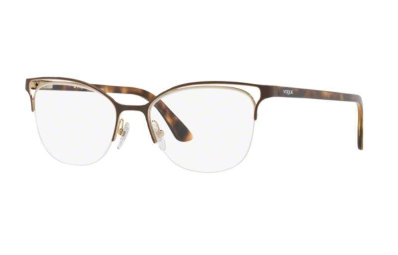 4f9f6e89885c8 armação oculos grau vogue vo4087 997 53 marrom brilho. Carregando zoom.